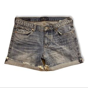 Lucky Brand Aztec Printed Jean Shorts